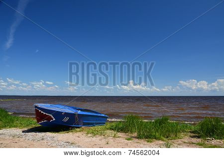 Boat on the riverbank