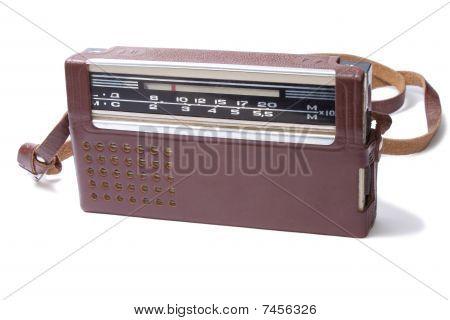 Old Transistor Radio isolated