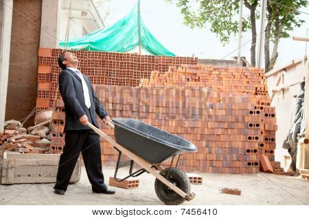 Engineer With Wheelbarrow