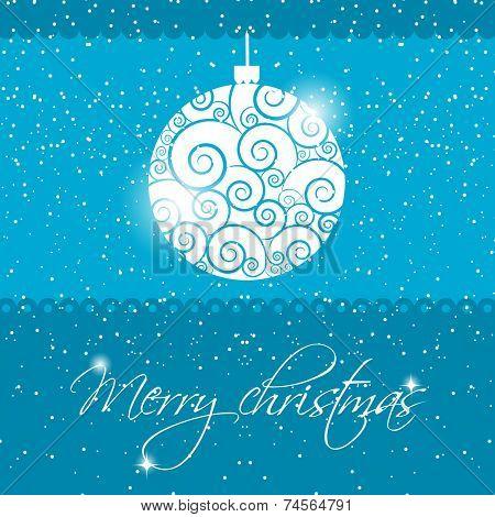 Holiday greeting card with christmas ball