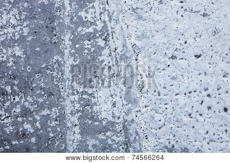 Partly Whitewashed Concrete Wall With Rich And Various Texture