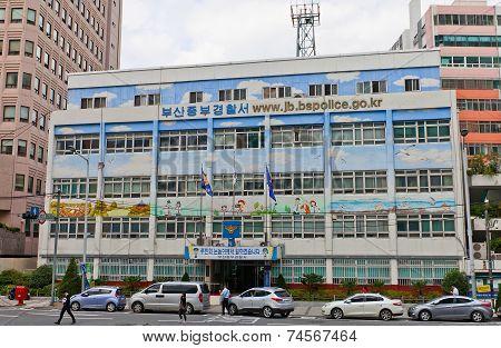 Jungbu Police Station In Busan, South Korea