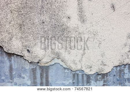 Old Damaged Whitewash On The Concrete Wall With Rich Texture