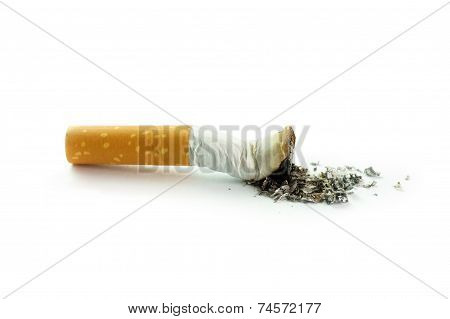 Cigarette Butt With Ash