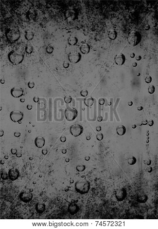 Water bubbles as grey background