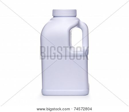 White plastic jerry can isolated on a white background