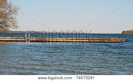 Swimming Dock - the end of summer