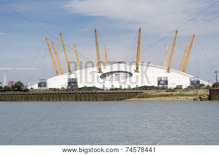 O2 Arena and River Thames, London