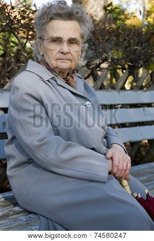 old woman in the park