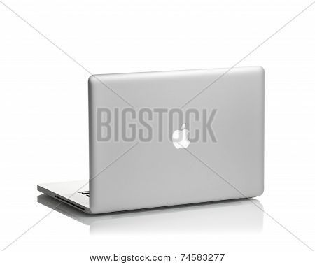 MOSCOW, RUSSIA - APRIL 24 , 2014: Photo of a MacBook Pro. MacBook Pro is a laptop developed by Apple