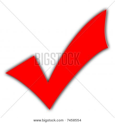 Red Tick Or Check Mark