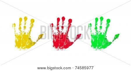 Colorful Prints Of Children Hands
