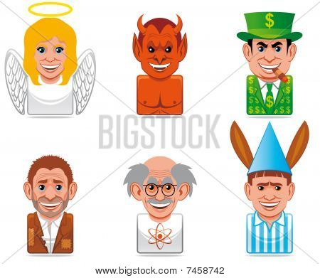 Cartoon people icons