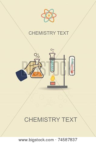 Chemistry infographic vector poster,