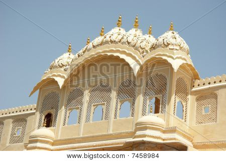 Lattice Windows In Palace Of Winds, Jaipur, India