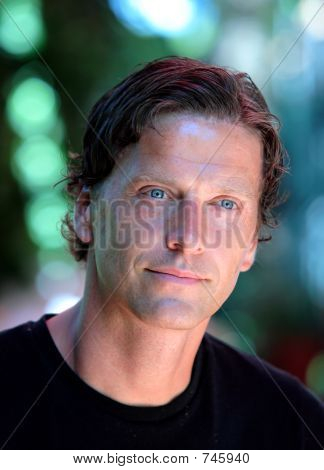 Head Shot Of A Handsome Middle Aged Man