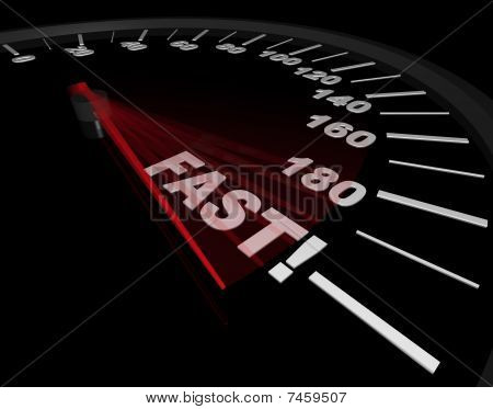 Fast - Word On Speedometer