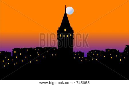 poster of Istanbul city scenery