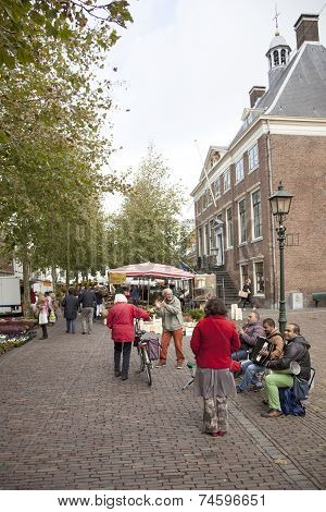 Street Musicians On The Market In Wijk Bij Duurstede