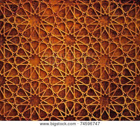 Islamic Star Grunge background