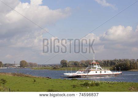 Ferryboat Near Wijk Bij Duurstede