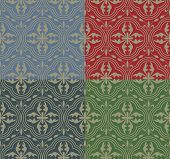 stock photo of jousting  - Vector medieval seamless pattern with stylized cross - JPG
