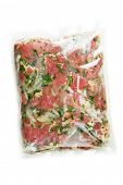 pic of marinade  - barbecue meat in vacuum marinade bag - JPG