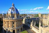 stock photo of church  - The Oxford University City Photo in the top of tower in St Marys Church - JPG