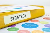 foto of swot analysis  - Binder of strategy documents with business plan and SWOT analysis - JPG