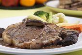 pic of t-bone steak  - Close up t - JPG