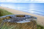 foto of ww2  - Tobruk bunker WW2 Utah Beach is one of the five Landing beaches in the Normandy landings on 6 June 1944 during World War II - JPG