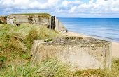 picture of ww2  - Tobruk bunker WW2 Utah Beach is one of the five Landing beaches in the Normandy landings on 6 June 1944 during World War II - JPG