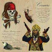 picture of buccaneer  - An hand drawn vector pack - JPG