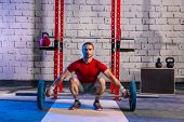 picture of lifting weight  - Barbell weight lifting man weightlifting workout exercise gym - JPG