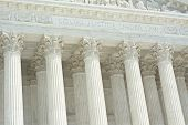 image of supreme court  - United States Supreme Court with Equal Justice Under Law Text - JPG
