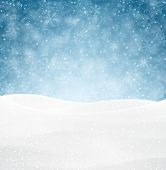 stock photo of wavy  - Winter background with snow - JPG