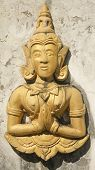 picture of cho-cho  - Angel statue at Wat Phra That Jom Jang Cho Hae District Phrae province - JPG