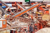 picture of sand gravel  - Quarry crusher plant in sand and gravel procuction - JPG