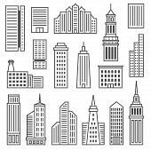 image of skyscrapers  - Skyscrapers icons - JPG