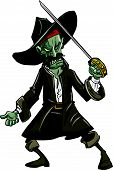 picture of plunder  - Cartoon evil zombie pirate - JPG