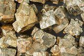 pic of pyrite  - Pyrite from the musschelkalk quarries of Winterswijk in Netherlands. NETHERLANDS - GELDERLAND - WINTERSWIJK: oktober 2014 - JPG