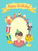 Постер, плакат: Birthday Card for Boy