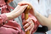 foto of trust  - Senior woman with her caregiver at home - JPG