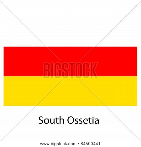 Flag  Of The Country  South Ossetia. Vector Illustration.