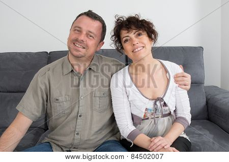 Man and woman happy