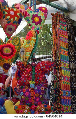 Colorful handcrafts