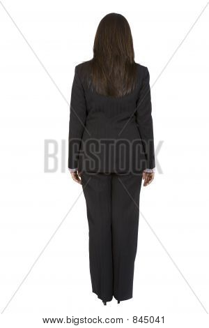 business woman standing backwards