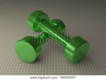 Green Glossy Dumbbells