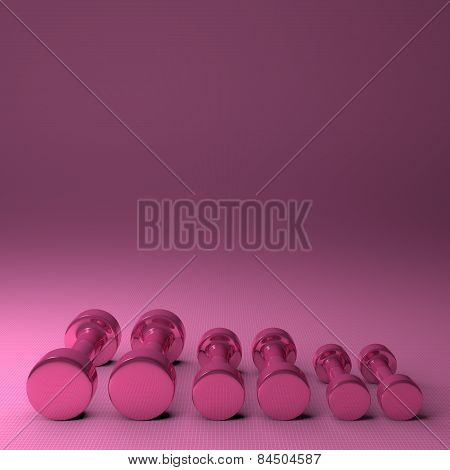 Pink Glossy Dumbbells