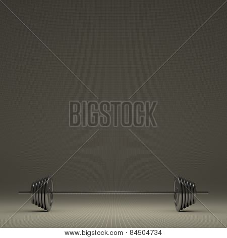 Steel Glossy Barbell